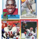 QUARTERBACK SALE:  (4) ANDRE WARE 1990 Rookie lot U of Houston QB 1989 Heisman Winner
