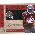 MIKE WILLIAMS 2010 Playoff Contenders Rookie Roll Call ROOKIE INSERT Tampa Bay TB BUCS Syracuse