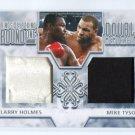 MIKE TYSON & LARRY HOLMES 2010 Ringside Boxing TKO Double Memorabilia SILVER Robe & Trunks LTD. 30