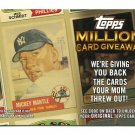 2010 Topps Million Card Giveaway REDEMPTION #TMC-25