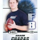 SHAUN CHAPAS 2011 Sage Hit ROOKIE Georgia Bulldogs DAWGS