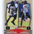 MICHAEL CRABTREE & GRAHAM HARRELL 2009 Sage Hit #55 Teammates ROOKIE 49ers Texas Tech QB