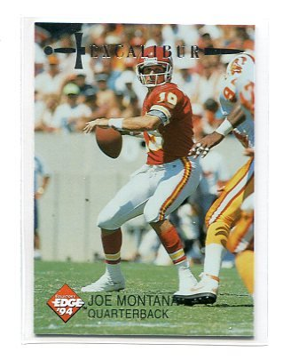 JOE MONTANA 1994 Collector's Edge CE #33 SF 49ers NOTRE DAME KC Chiefs QB