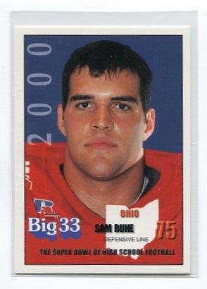 SAM RUHE 2000 Big 33 Ohio High School PENN STATE