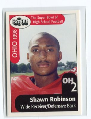 SHAWN ROBINSON 1998 Big 33 Pennsylvania High School card PITT PANTHERS
