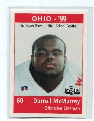 DARRELL McMURRAY 1999 Big 33 Pennsylvania High School card PITT PANTHERS