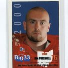 JON PRESSNELL 2000 Big 33 Pennsylvania High School card PITT PANTHERS