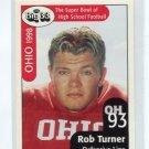 ROB TURNER 1999 Big 33 Ohio High School card PURDUE Boilermakers