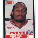 JAMSON EVANS 2001 Big 33 Ohio High School card PURDUE Boilermakers