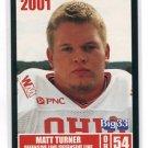 MATT TURNER 2001 Big 33 Ohio High School card PURDUE Boilermakers