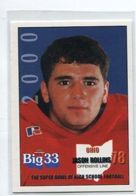 JASON ROLLINS 2000 Big 33 Ohio High School card KENTUCKY Wildcats
