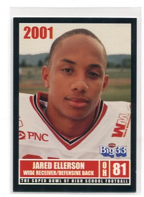 JARED ELLERSON 2001 Big 33 Ohio High School card MINNESOTA Golden Gophers