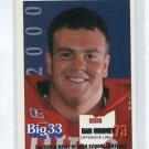 DAN MOONEY 2000 Big 33 Ohio High School card DUKE Blue Devils