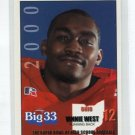 VINNIE WEST 2000 Big 33 Ohio High School card TOLEDO RB
