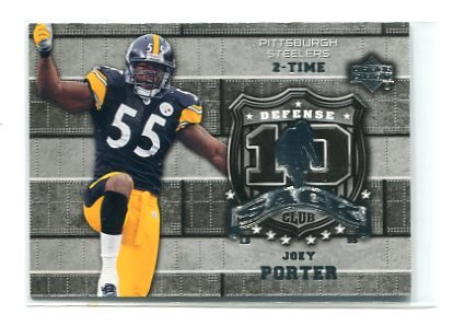 JOEY PORTER 2006 Upper Deck UD 10 Sack Club #10S-JP INSERT  Steelers