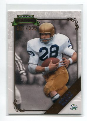 ROCKY BLEIER 2009 Press Pass Legends #76 Steelers NOTRE DAME Irish #d/899