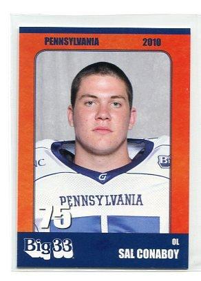 SAL CONABOY 2010 Big 33 Pennsylvania High School card MARYLAND Terps OL