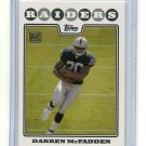 DARREN McFADDEN 2008 Topps #346 ARKANSAS Raiders ROOKIE