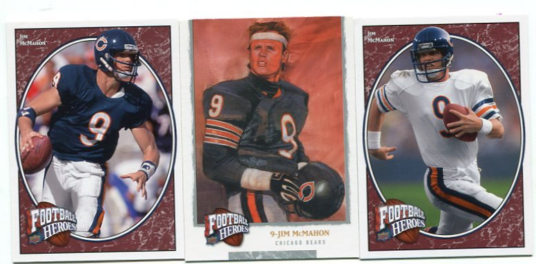 (3) JIM McMAHON 2008 Upper Deck UD Football Heroes lot CHICAGO Bears BYU Cougars QB