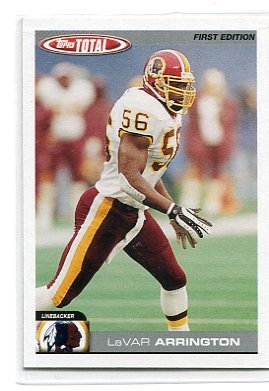 LaVAR ARRINGTON 2004 Topps Total FIRST EDITION #186 Penn State REDSKINS