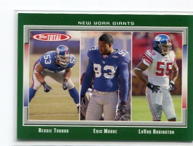 LaVAR ARRINGTON 2006 Topps Total #336 Penn State New York NY Giants