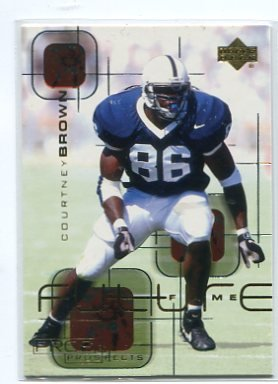 COURTNEY BROWN 2000 Upper Deck Pros & Prospects Future Fame #FF3 ROOKIE INSERT Penn State BROWNS