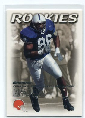 COURTNEY BROWN 2000 Fleer Dominion #196 ROOKIE Penn State BROWNS