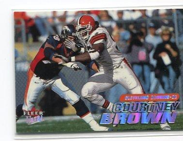 COURTNEY BROWN 2001 Fleer Ultra #185 Penn State BROWNS