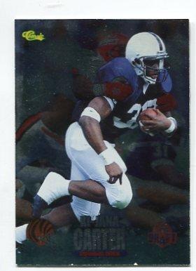 Ki-JANA CARTER 1995 Classic Draft FOIL #1 ROOKIE Penn State BENGALS