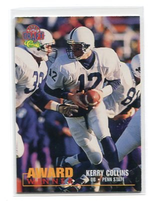 KERRY COLLINS 1995 Classic Draft #102 ROOKIE Penn State CAROLINA Panthers QB