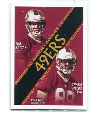 CHAFIE FIELDS 2000 Fleer Tradition #361 ROOKIE Penn State 49ers
