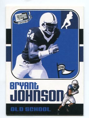 BRYANT JOHNSON 2003 Press Pass JE Old School INSERT ROOKIE Penn State Nittany CARDINALS Lions