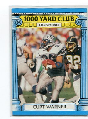 CURT WARNER 1987 Topps 1,000 Yard Club #5 Penn State SEAHAWKS