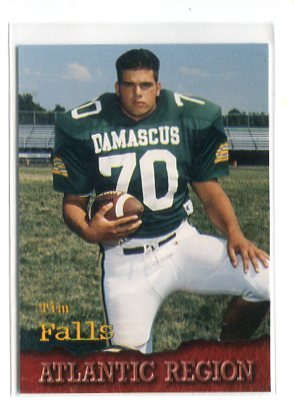 TIM FALLS 1996 Roox High School Senior Card #41 Penn State Nittany Lions