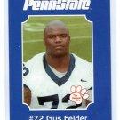 GUS FELDER 2001 Penn State Second Mile College Card OT