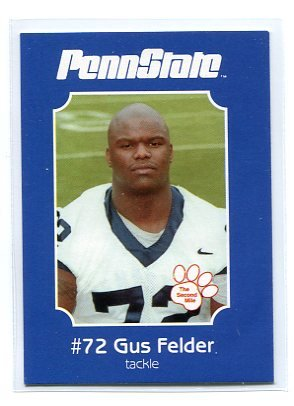 GUS FELDER 2001 Penn State Second Mile College Card OT