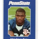 OMAR EASY 2001 Penn State Second Mile PRE-ROOKIE Kansas City KC Chiefs DAMAGED