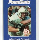 MATT SCHMITT 2001 Penn State Second Mile College Card OT