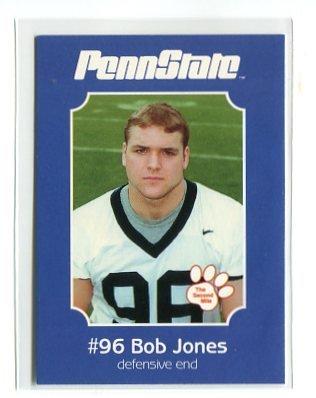 BOB JONES 2001 Penn State Second Mile College Card DE