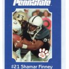 SHAMAR FINNEY 2001 Penn State Second Mile College Card REDSKINS OLB