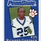 RICH GARDNER 2002 Penn State Second Mile college card TITANS CB