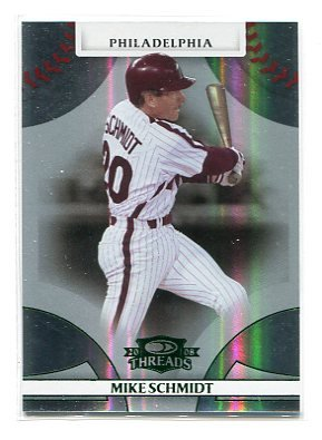 MIKE SCHMIDT 2008 Donruss Threads GREEN SP #38 Philadelphia Phillies #d/250