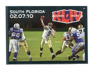 DREW BREES 2010 Panini Sticker Superbowl XLIV #560 Saints PURDUE Boilermakers QB