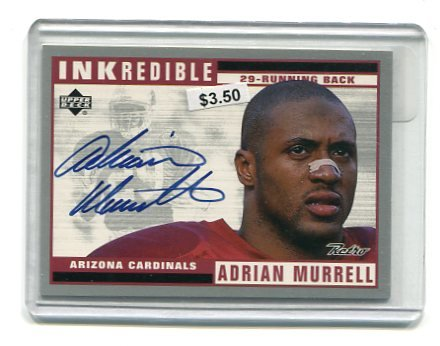 ADRIAN MURRELL 1999 Upper Deck INKredible AUTO Hawaii Leilehua HS Cardinals JETS West Viringia