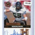 VINCENT MANUWAI 2003 Press Pass AUTO Rookie HAWAII WARRIORS Jacksonville Jaguars