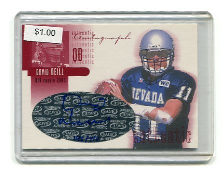 KLIFF KINGSBURY 2002 Sage AUTO ROOKIE Nevada BILLS QB