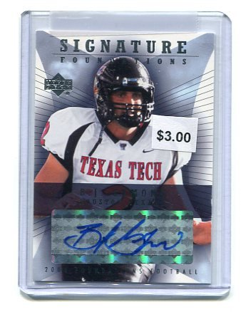 B.J. BJ SYMONS 2004 Upper Deck UD Signature Foundations AUTO ROOKIE Texas Tech Red Raiders TEXANS QB