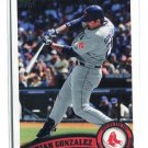 ADRIAN GONZALEZ 2011 Topps #425 Boston Red Sox
