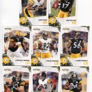 (8) Pittsburgh STEELERS 2010 Score TEAM LOT - Ward, Wallace, Harrison, Mendenhall, Timmons, more