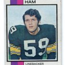 JACK HAM 1973 Topps #115 ROOKIE Steelers PENN STATE Nittany Lions